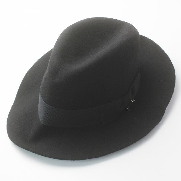 Muhlbauer ミュールバウアー グログランリボン フェルトウール 中折れハット/ブラック 帽子【2400011668028】