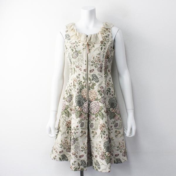 Lois CRAYON ロイスクレヨン フラワーゴブラン織り スペアカラー ノースリーブワンピースM/ゴシック ドレス【2400011669605】