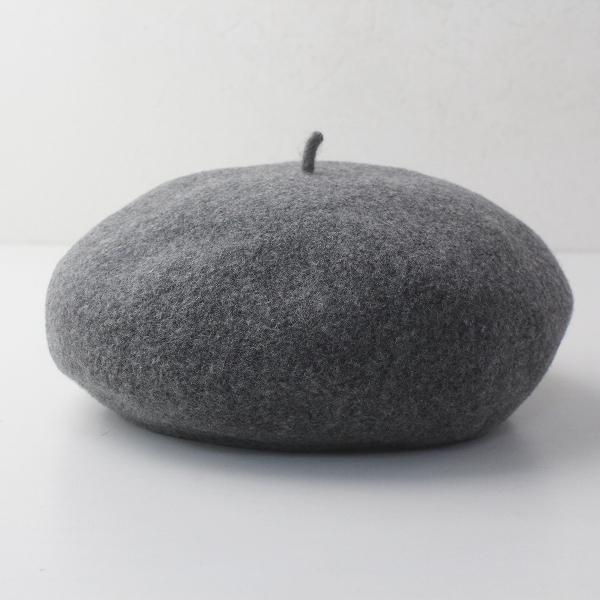 定番 人気 CA4LA カシラ メルトンウール ベレー帽/グレー 帽子 圧縮ウール 縮絨 プレス【2400011670137】