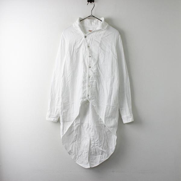 KAPITAL キャピタル 二重ガーゼ DUKEカラー燕尾シャツ 1/ホワイト 白 ロング コットン【2400011673015】