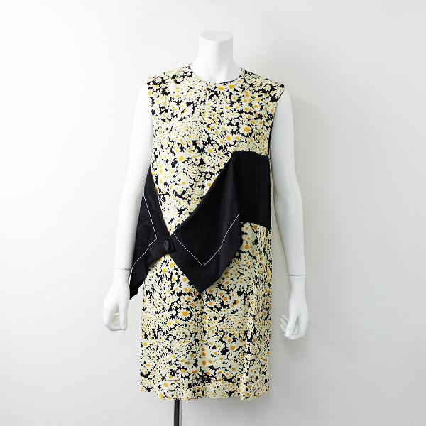 美品 2015 collection CELINE セリーヌ Daisy Print Dress デイジープリントドレス 34///フラワー ワンピース【2400011673251】