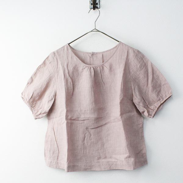 YAMMA ヤンマ産業 リネンプルオーバーブラウス Free/ピンク トップス 半袖【2400011673558】