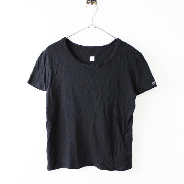 Gauze# (g) ガーゼ グラム コットン シンプル プルオーバー ショートスリーブ Tシャツ 0/ブラック【2400011676740】