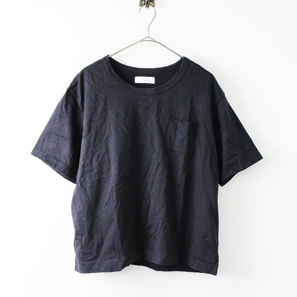 Laboratory ラボレイトリー コットン 丸首 シンプル 無地 Tシャツ 2/ブラック【2400011676771】