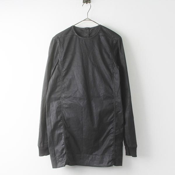 国内正規品 Rick Owens DRKSHDW リックオウエンス ダークシャドウ 後染め ノーカラー ロングシャツ XS///トップス【2400011677457】