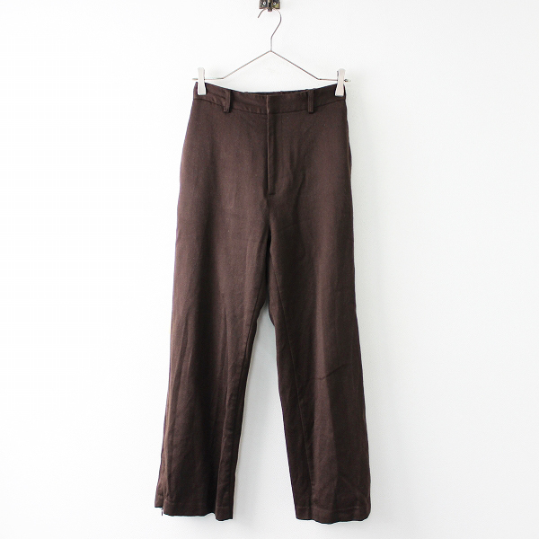 2018AW 定価3.9万 L'Appartement Deuxieme Classe アパルトモン Col Pierrot Side Zip Pants 34/ブラウン パンツ 無地【2400011677839】