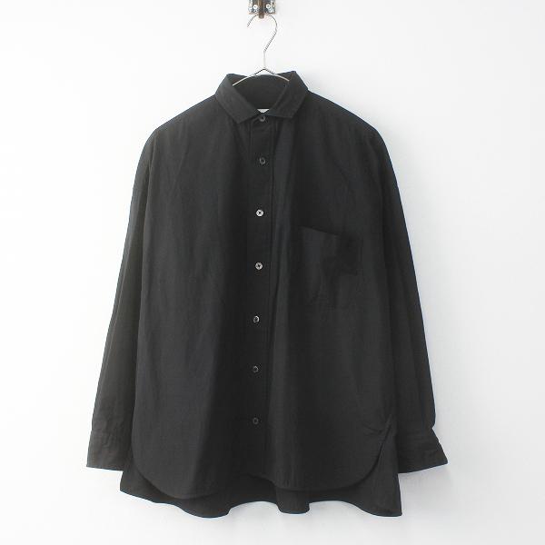 2019SS 春夏 TICCA ティッカ スクエアビッグシャツFREE/ブラック 長袖 ブラウス オーバーサイズ【2400011678522】