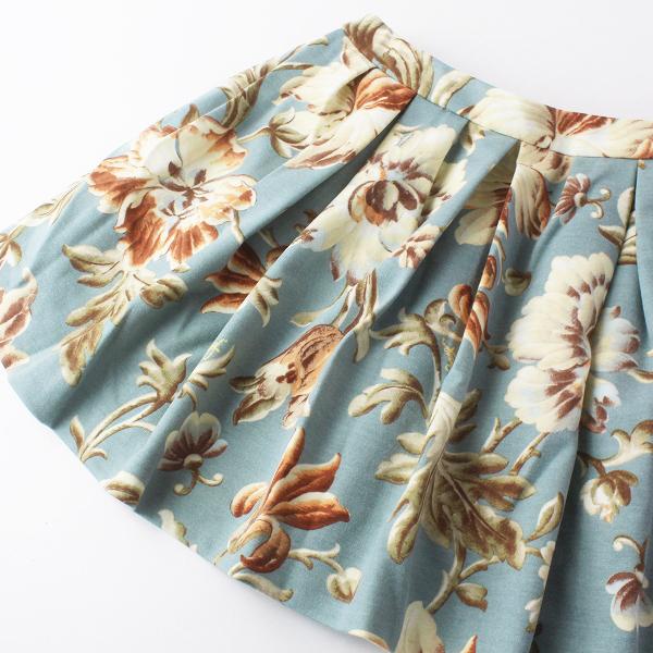 Lois CRAYON ロイスクレヨン ヴィンテージ ボタニカルフラワープリント フレアスカートM/花柄 ボトムス【2400011681898】