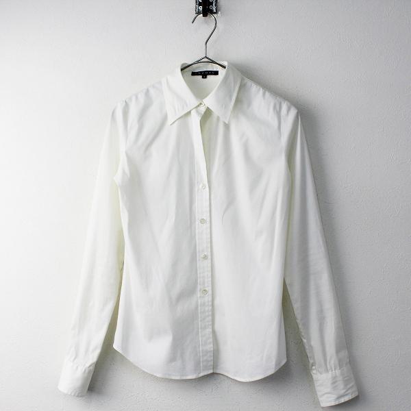 theory セオリー LUXE LARISSA コットン ストレッチ オープンカラーシャツ2/ホワイト【2400011682765】
