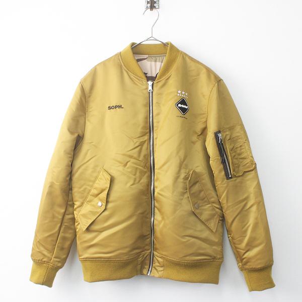 F.C.Real Bristol エフシーレアルブリストル ビッグロゴ リバーシブル ツアー ジャケット カモフラ刺繍 S///メンズ【2400011683120】