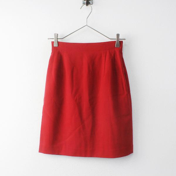 美品 Christian Dior クリスチャンディオール スポーツ ウールスカートS///レッド 赤 オールド ベーシック【2400011683342】