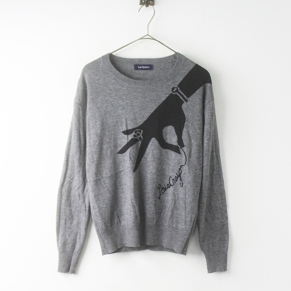 Lois CRAYON ロイスクレヨン ニットプルオーバー M/グレー トップス セーター【2400011684523】