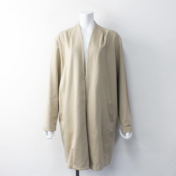 大きいサイズ sab street サブストリート ポンチノーカラー ロングジャケット 19/ベージュ アウター 上着 羽織り【2400011685131】