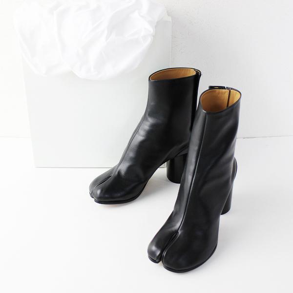 未使用品 MAISON MARGIELA メゾンマルジェラ Tabi Ankle boots 足袋 ブーツ 37/ブラック ショートブーツ【2400011686084】