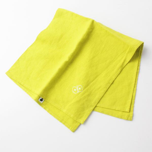 美品 mina perhonen ミナペルホネン choucho 刺繍スカーフ/イエロー ハンカチ【2400011686152】