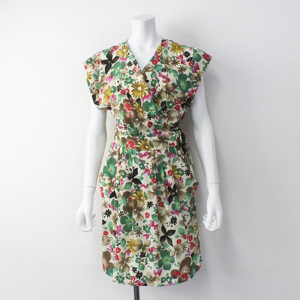 Lois CRAYON ロイスクレヨン フラワープリント カシュクールワンピースM/ドレス 花柄【2400011687029】