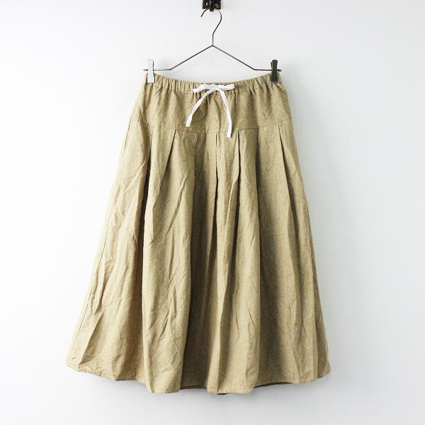 SM2 サマンサモスモス コットン 起毛 タック スカート F/ベージュ ボトムス ウエストゴム+紐【2400011687487】