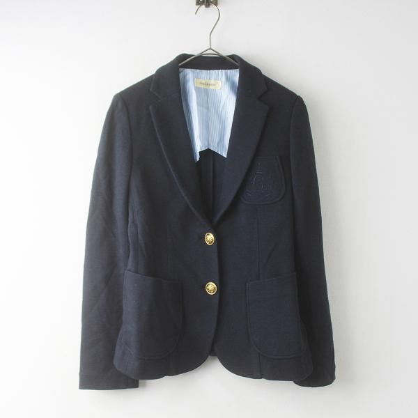 Lois CRAYON ロイスクレヨン 胸元刺繍 テーラード ジャケット M/ネイビー 紺 上着 トップス【2400011688972】