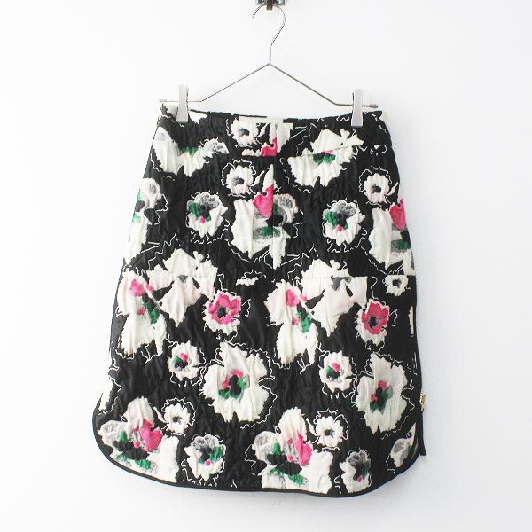 国内正規品 2014AW コレクション MARNI マルニ 中綿キルティング フラワージャガード サイドジップスカート36/花柄【2400011689009】-