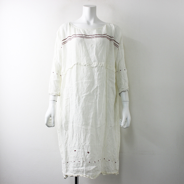 サンプル品 ALOHA STATE アロハステイト 民族柄織り ワンピース/オフホワイト【2400011693402】