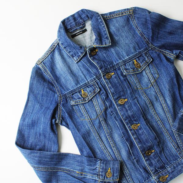 【スプリングセール】JOURNAL STANDARD ジャーナルスタンダード ベーシックデザイン デニムジャケット Sサイズ ブルー Gジャン【2400011694027】