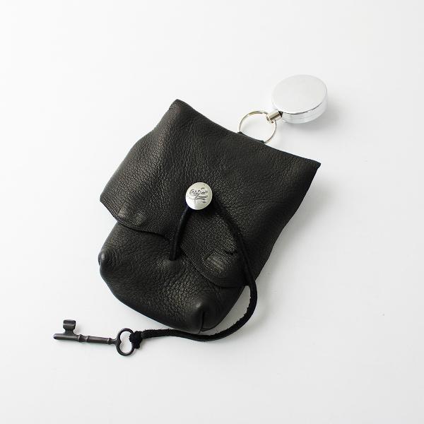 【期間限定20%OFF】未使用品 SUNSEA サンシー YONEGORO'S Bag leather レザー ヨネゴローズバッグ/ブラック ポーチ 小物【2400011704450】-.