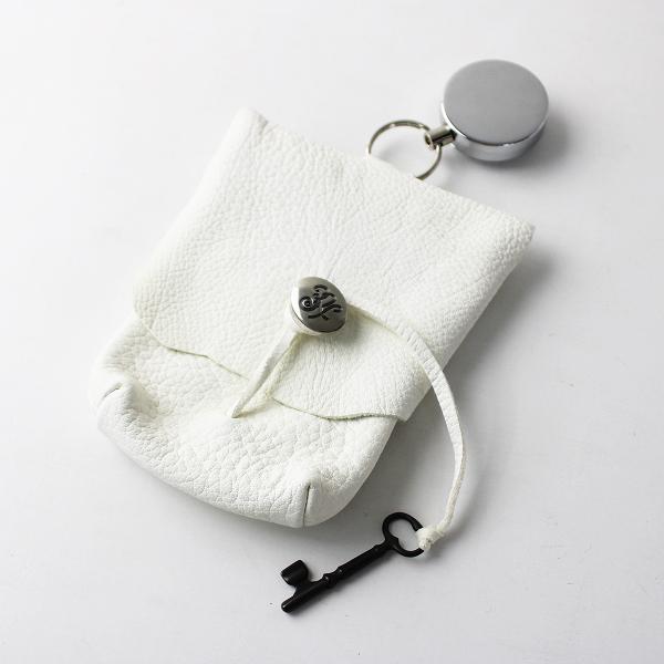 【期間限定20%OFF】SUNSEA サンシー YONEGORO'S Bag leather レザー ヨネゴローズバッグ/ホワイト ポーチ 小物【2400011704467】-.