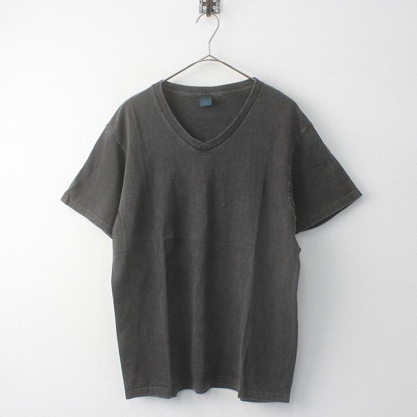 【期間限定50%OFF】メンズ GOOD ON 染色加工 Vネック 半袖 Tシャツ M/チャコールグレー M/チャコール【2400011707338】