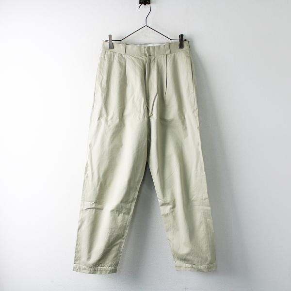 YAECA ヤエカ chino cloth pants tac tapared チノクロスタックテーパードパンツ 29/ベージュ【2400011714213】