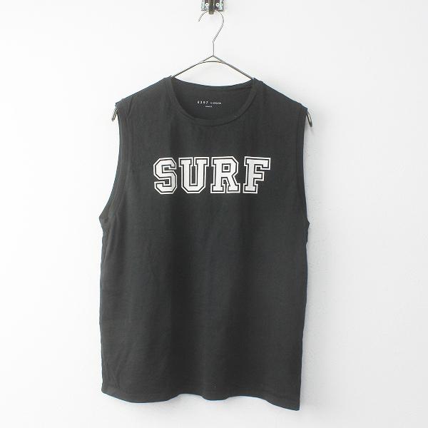 2018SS AP STUDIO エーピーストゥディオ 6397 SURF Tシャツ S/ブラック ノースリーブ トップス【2400011719188】-.