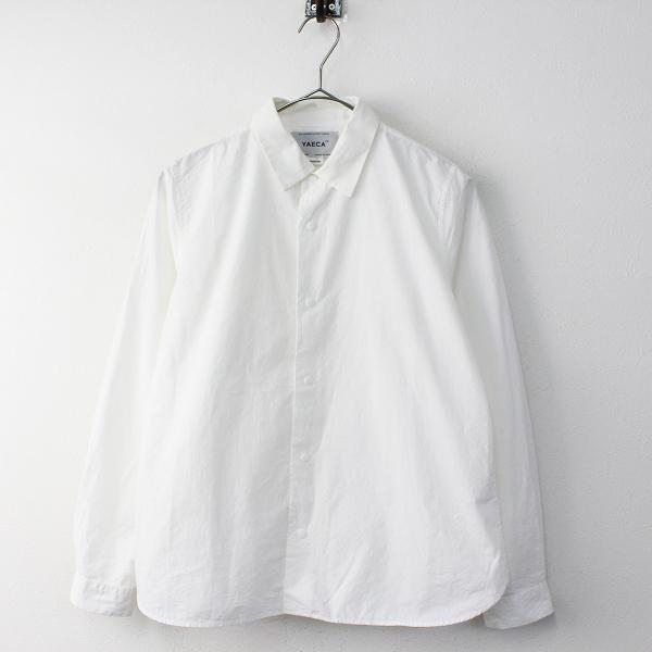 YAECA ヤエカ 68101 コンフォートシャツ スタンダード M/ホワイト コットン スナップボタン【2400011727909】