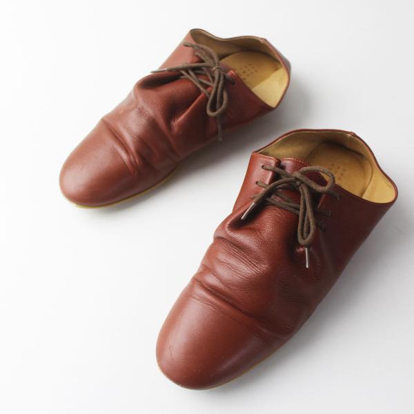 que shoes キュー シューズ nost ノースト レザー シューズ L/ブラウン 靴 24-24.5cm カジュアル【2400011735171】