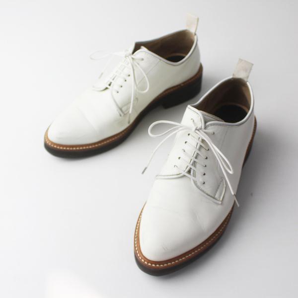 Y's YOHJI YAMAMOTO ワイズ ヨウジヤマモト ストレートチップ レザー レースアップ シューズ 6/ホワイト 靴 小物【2400011735195】