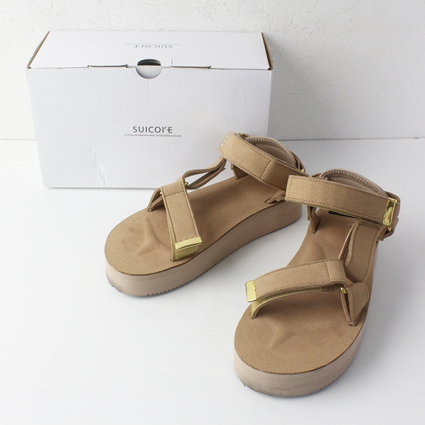 2019AW L'Appartement アパルトモン SUICOKE スイコック Strap Sandal 6(24cm)ベージュ/スポサン【2400011738431】