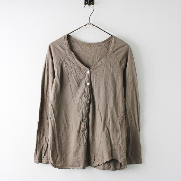 定価1.5万 2019SS Deuxieme Classe ドゥーズィエムクラス 19070500701010 Henly テンジク Tシャツ Free/ブラウン -.【2400011754059】