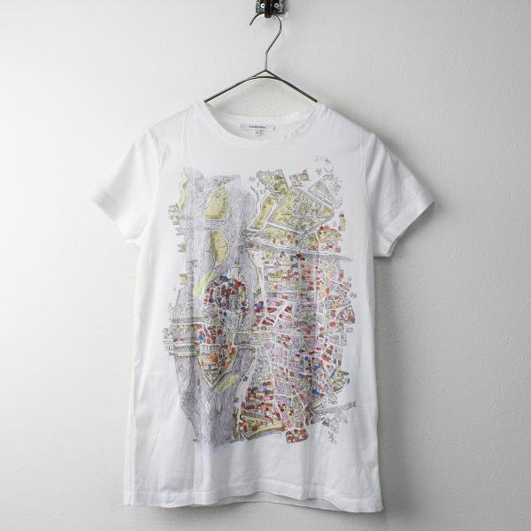 国内正規品 CARVEN カルヴェン プリントTシャツ S/ホワイト カットソー トップス【2400011755254】