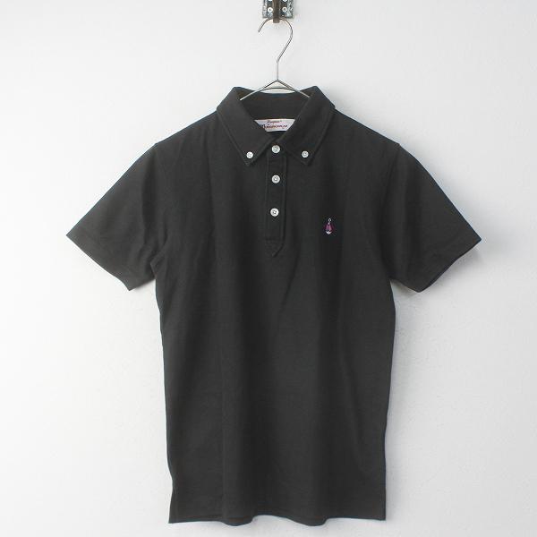 Munsingwear マンシングウェア ペンギン刺繍 ポロシャツ XS/ブラック ゴルフウェア【2400011755261】