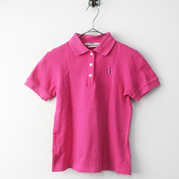 Munsingwear マンシングウェア ペンギン刺繍 ポロシャツ M/ピンク ゴルフウェア【2400011755278】