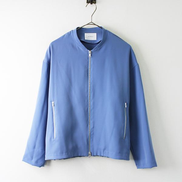 【スプリングセール】MIDIUMISOLID ミディウミソリッド ジップアップ ブルゾン /ブルー アウター 上着 羽織り【2400011756336】