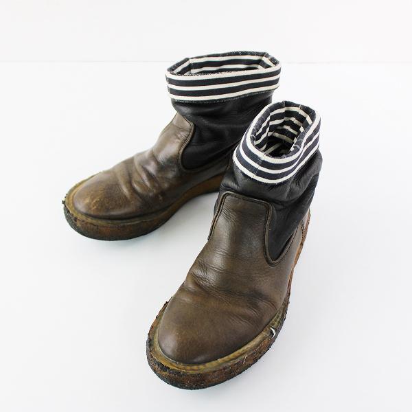 【期間限定30%OFF】KAPITAL キャピタル リンクル ポパイブーツ 0/カーキブラウン 靴 くつ ミドルブーツ【2400011756701】