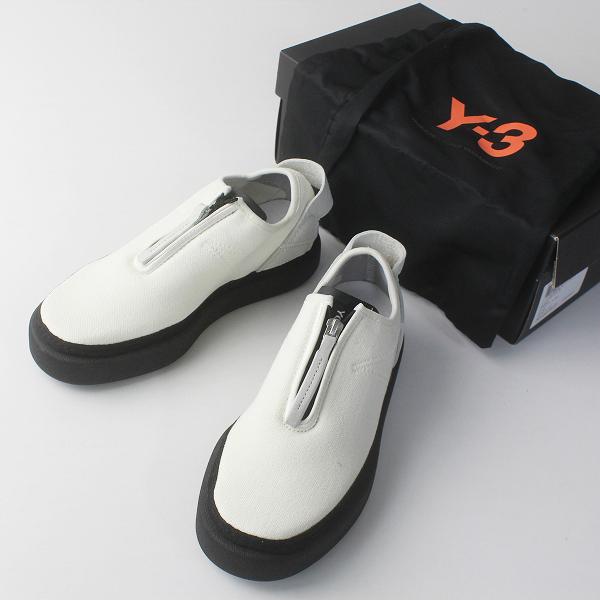 未使用 定価3.3万 Y-3 ワイスリー ヨウジヤマモト BC0943 COMFORT ZIP ジップ スニーカー 22.5cm/ホワイト adidas【2400011756886】