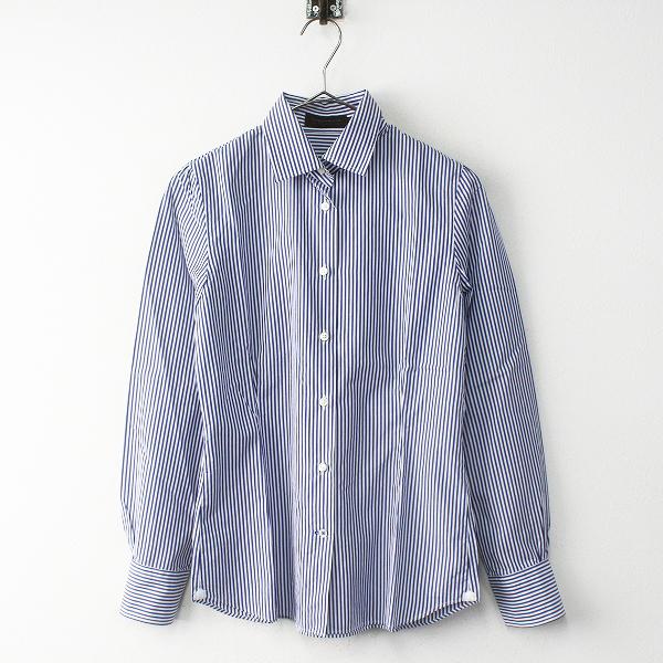 TOMORROWLAND COLLECTION トゥモローランドコレクション コットン ストライプ シャツ 38/ブルー×ホワイト【2400011757203】