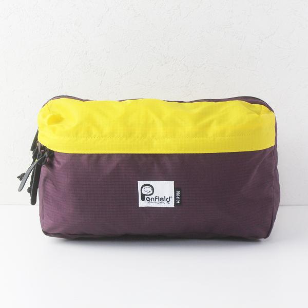 Ne-net×Penfield Sportswear, Inc. ネネット ナイロンボディバッグ /パープル×イエロー ウエストポーチ【2400011760548】