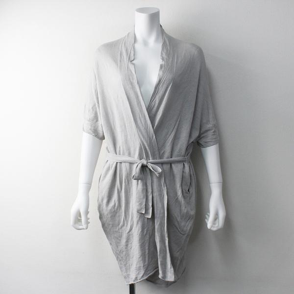 evam eva エヴァムエヴァ linen cocoon gown リネンコクーンガウン M/ライトグレー 羽織り ハオリ コート【2400011761194】