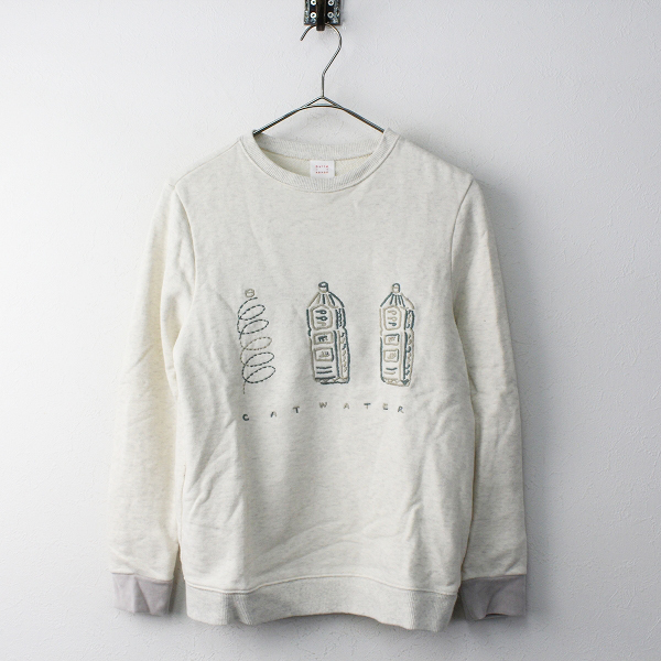bulle de savon ビュルデサボン CAT WATER 刺繍 裏毛コットン スウェットシャツ Free/ベージュ【2400011762221】