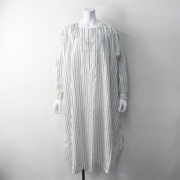 美品 2019SS 定価2.6万 Spick & Span スピックアンドスパン MIRKO BERTOLA オーバーサイズドシャツドレス /ホワイト【2400011767271】-.