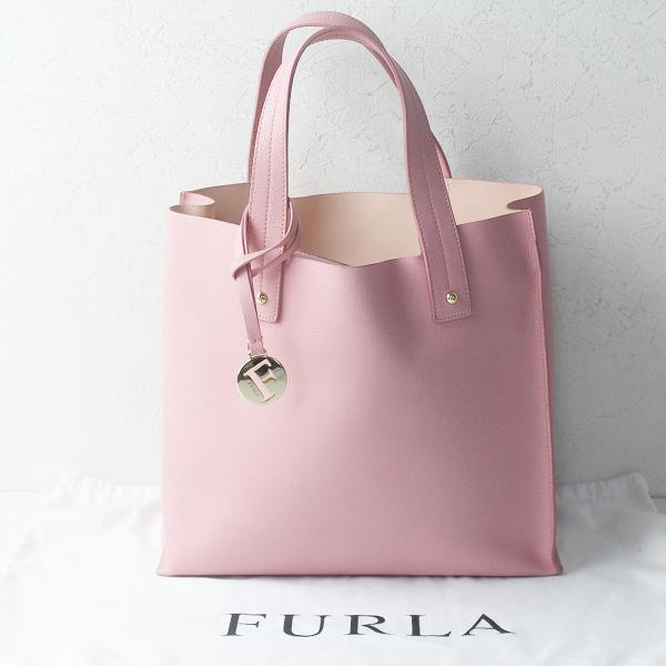 FURLA フルラ MUSE ミューズ スクエアトートバッグ/ピンク ハンドバッグ TOTE BAG【2400011771919】