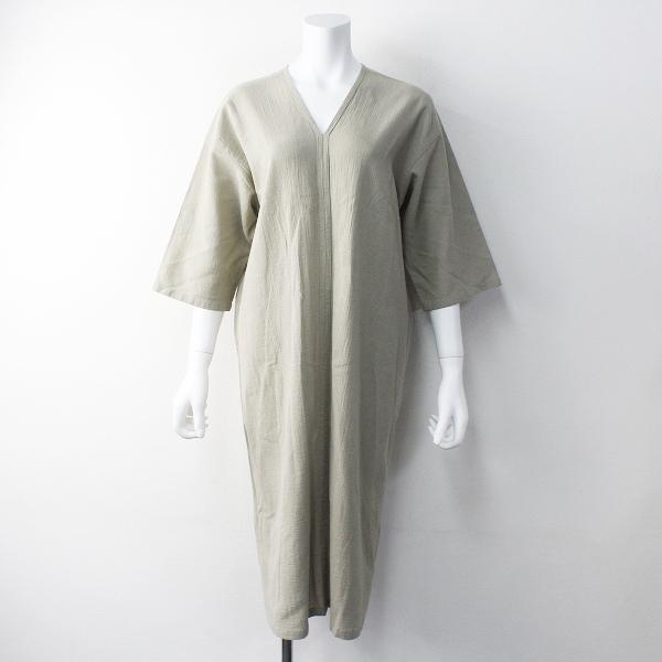 2018SS evam eva エヴァムエヴァ Cotton linen onepiece コットンリネンワンピース 2/サンドベージュ プルオーバー【2400011773593】