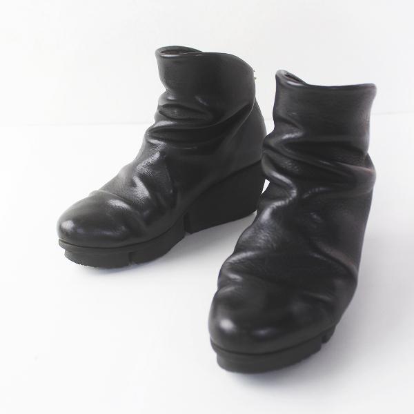 TRIPPEN トリッペン SWIFT スウィフト レザーショートブーツ 36/ブラック 靴 くつ 厚底【2400011776396】