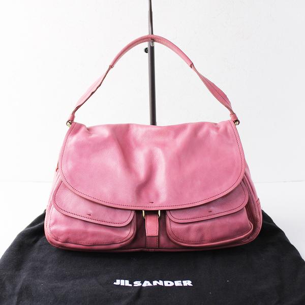 JIL SANDER ジルサンダー レザー ワンハンドル バッグ/ピンク 鞄 かばん【2400011793294】